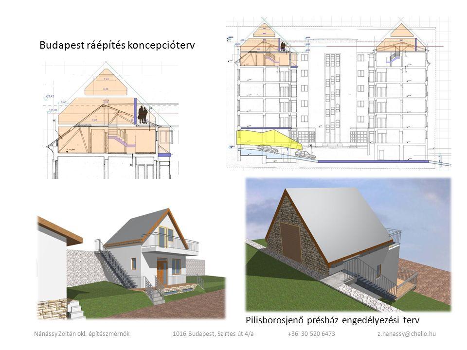 Budapest ráépítés koncepcióterv