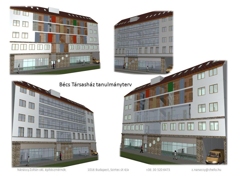 Bécs Társasház tanulmányterv