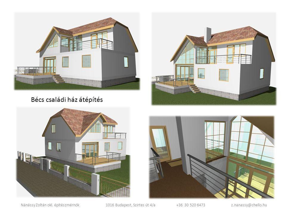 Bécs családi ház átépítés