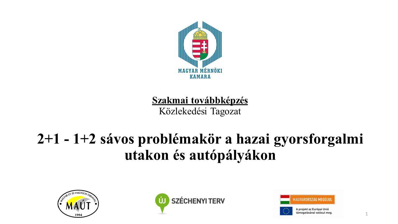 Szakmai továbbképzés Közlekedési Tagozat 2+1 - 1+2 sávos problémakör a hazai gyorsforgalmi utakon és autópályákon