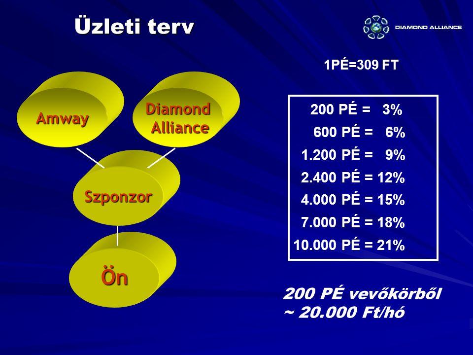 Üzleti terv Ön Diamond Amway Alliance Szponzor 200 PÉ vevőkörből