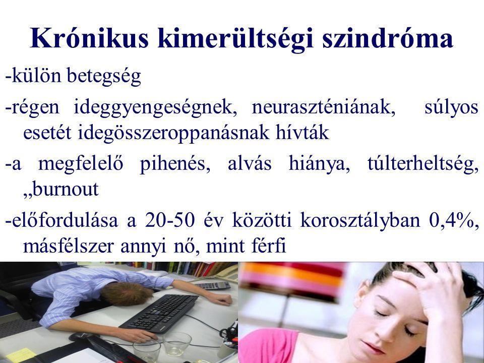 Krónikus kimerültségi szindróma