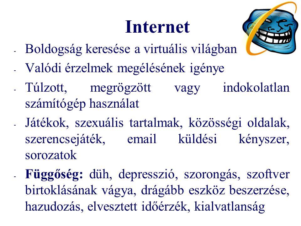 Internet Boldogság keresése a virtuális világban