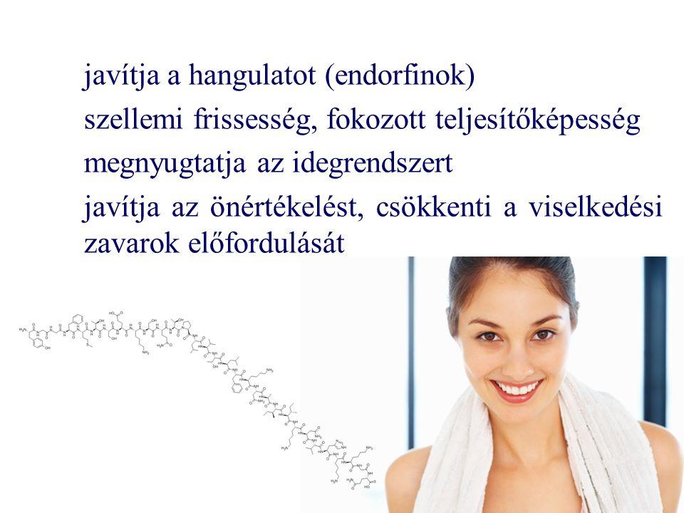 javítja a hangulatot (endorfinok)