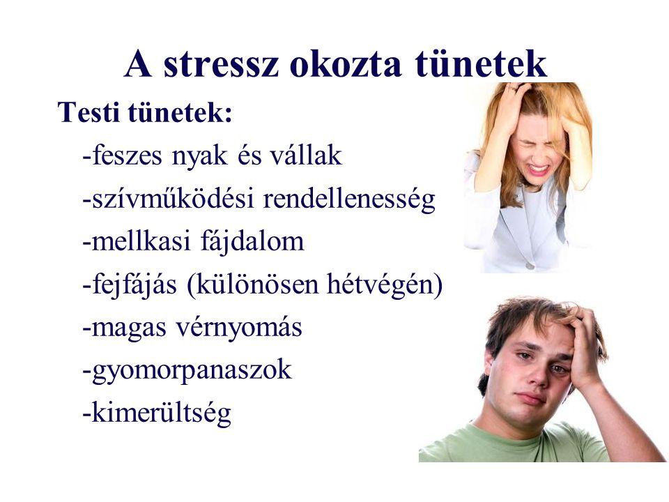 A stressz okozta tünetek