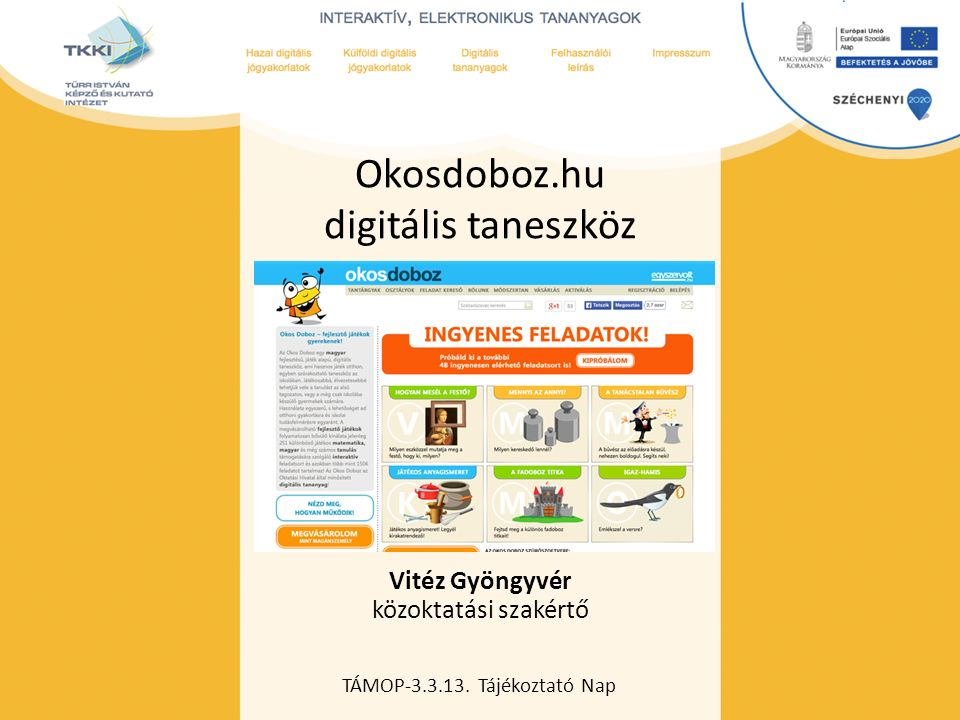 Okosdoboz.hu digitális taneszköz