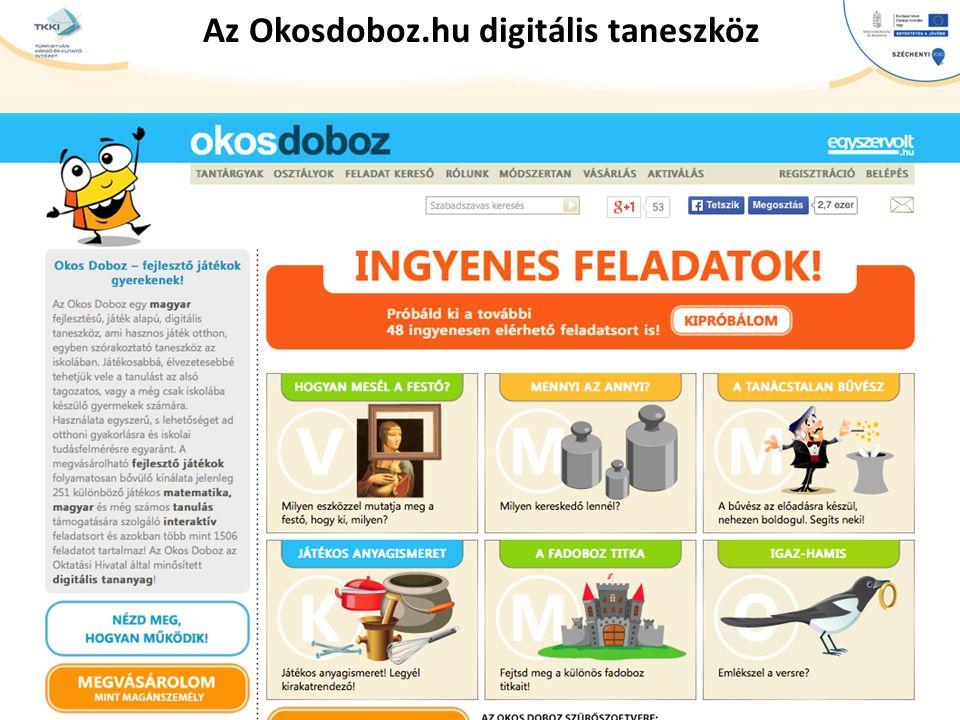 Az Okosdoboz.hu digitális taneszköz
