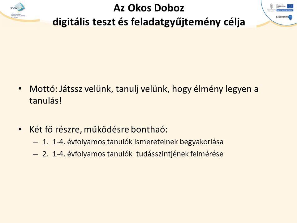 Az Okos Doboz digitális teszt és feladatgyűjtemény célja