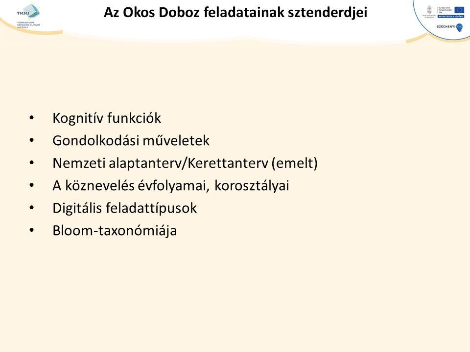 Az Okos Doboz feladatainak sztenderdjei