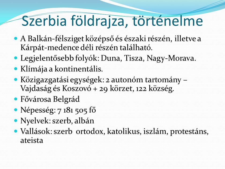 Szerbia földrajza, történelme