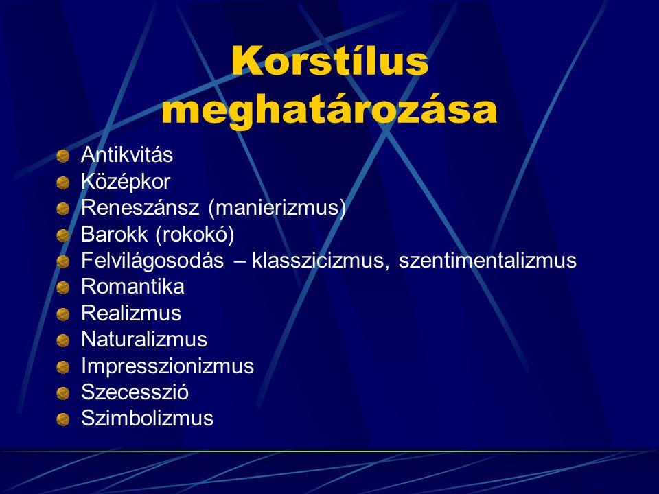 Korstílus meghatározása