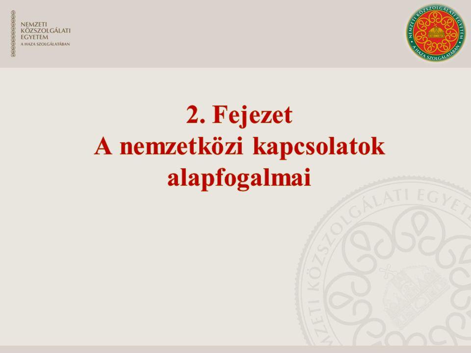 2. Fejezet A nemzetközi kapcsolatok alapfogalmai