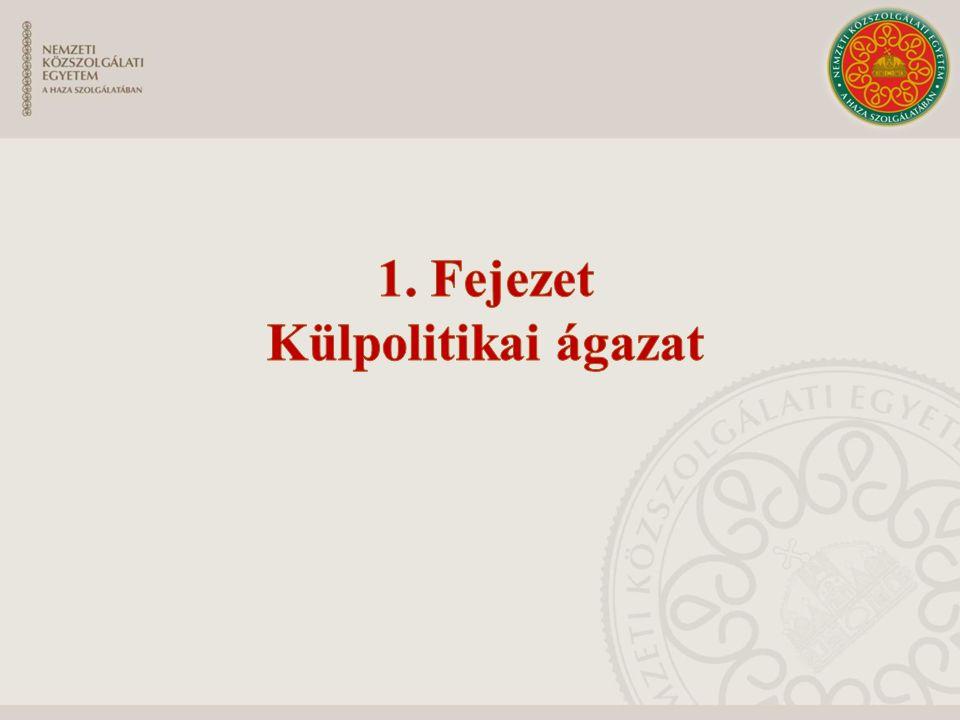 1. Fejezet Külpolitikai ágazat