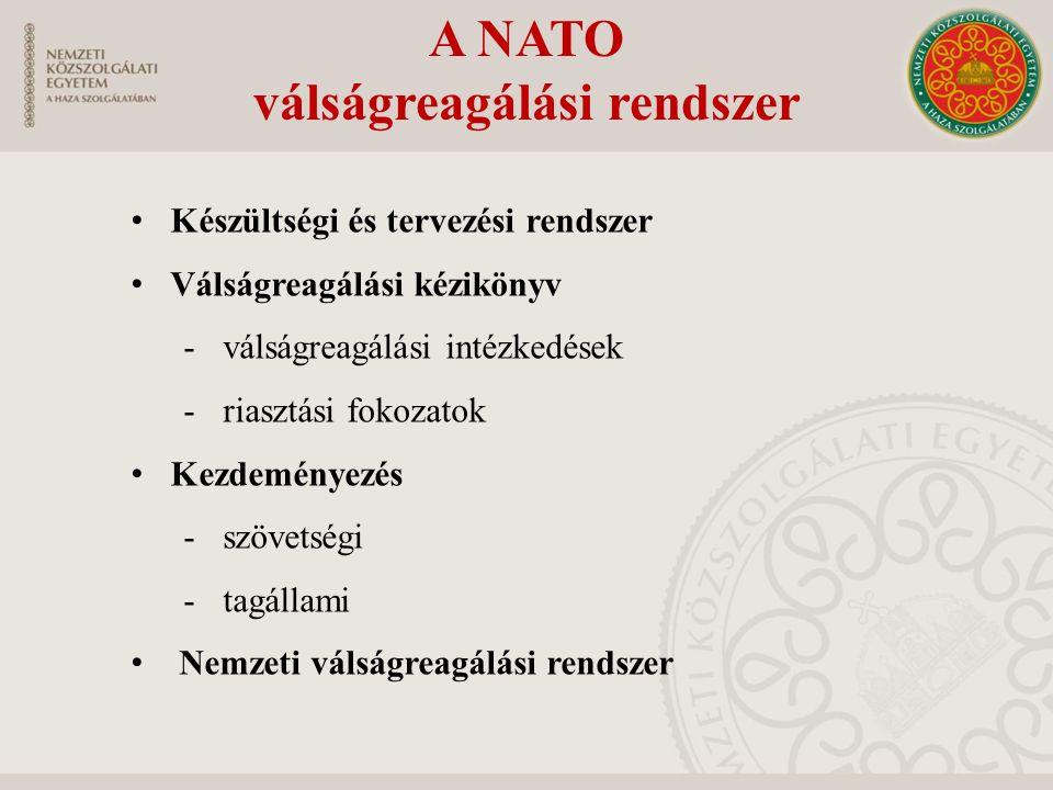 A NATO válságreagálási rendszer