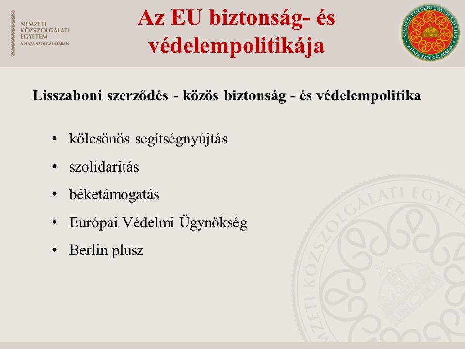 Az EU biztonság- és védelempolitikája