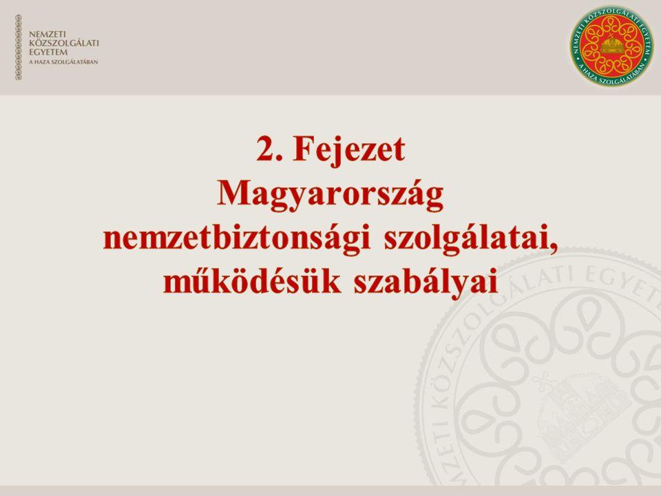 2. Fejezet Magyarország nemzetbiztonsági szolgálatai,