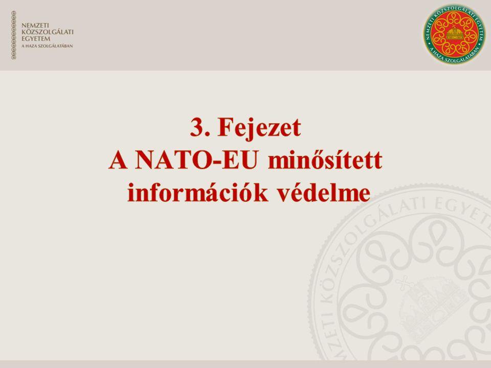 3. Fejezet A NATO-EU minősített információk védelme