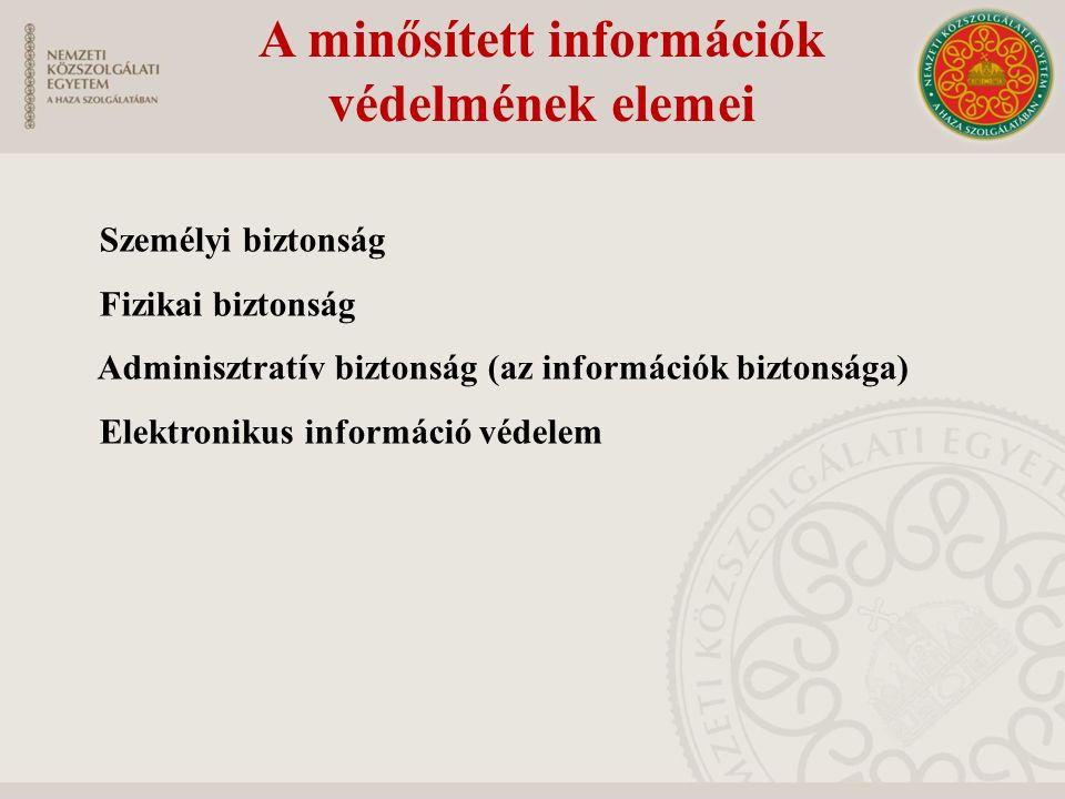 A minősített információk