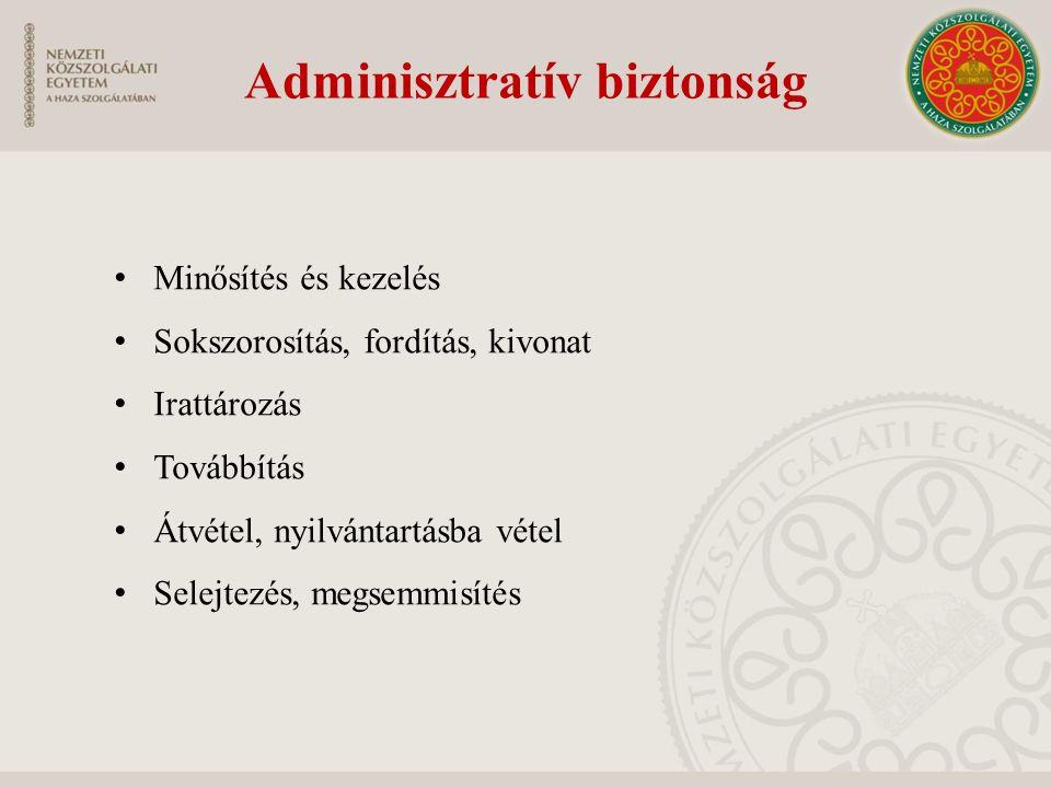 Adminisztratív biztonság