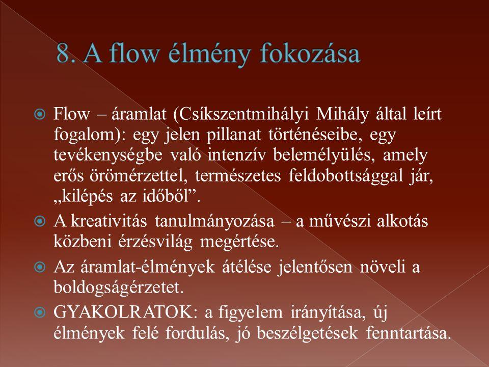 8. A flow élmény fokozása