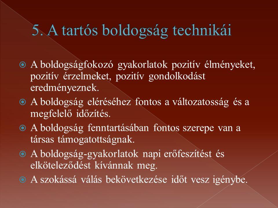 5. A tartós boldogság technikái