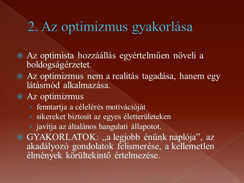 2. Az optimizmus gyakorlása