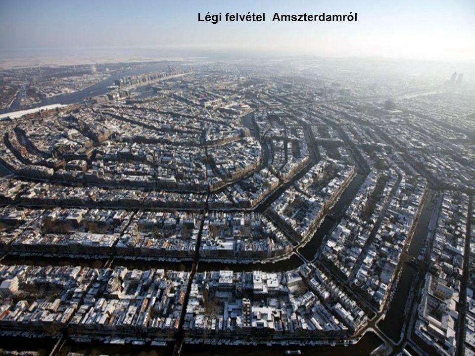 Légi felvétel Amszterdamról