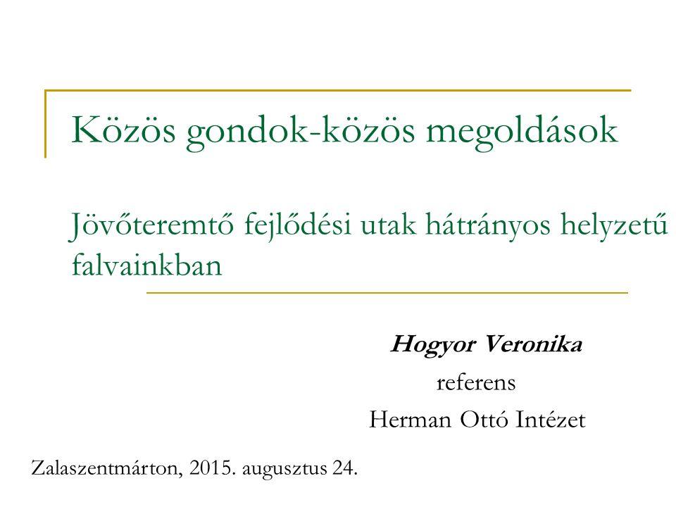 Hogyor Veronika referens Herman Ottó Intézet