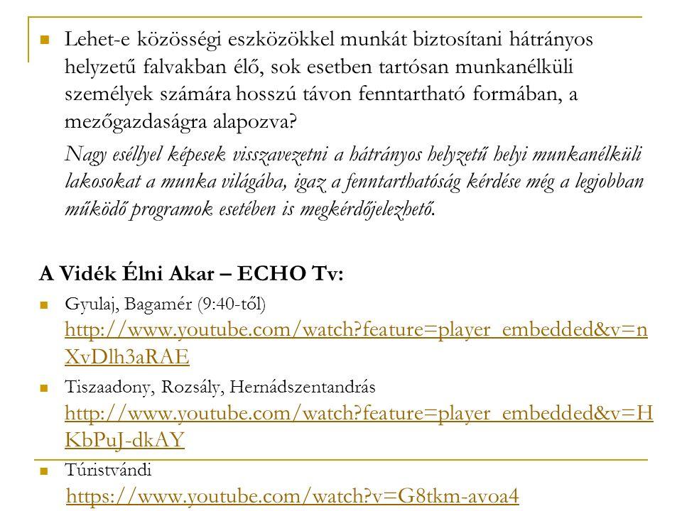 A Vidék Élni Akar – ECHO Tv: