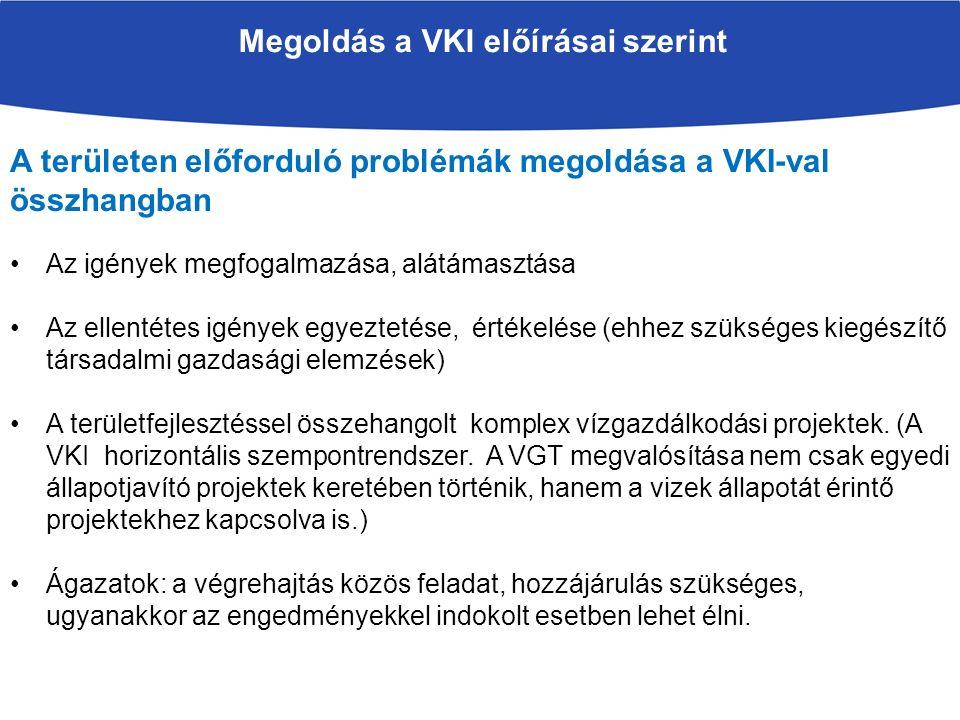 Megoldás a VKI előírásai szerint