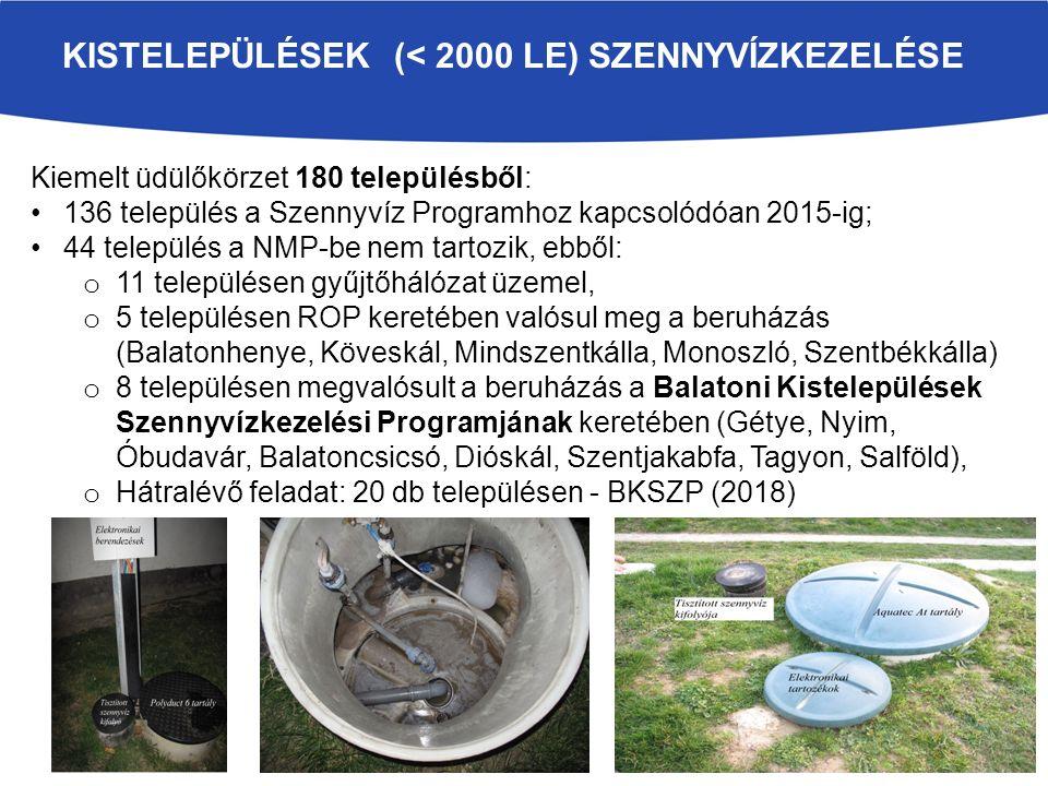 Kistelepülések (< 2000 LE) szennyvízkezelése