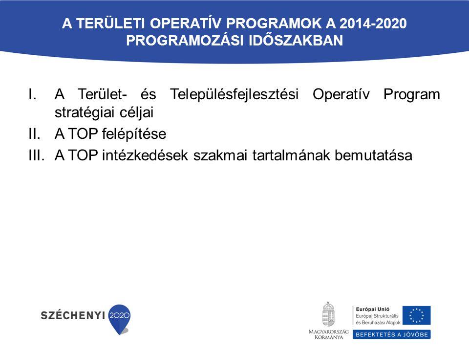 A területi operatív programok a 2014-2020 programozási időszakban