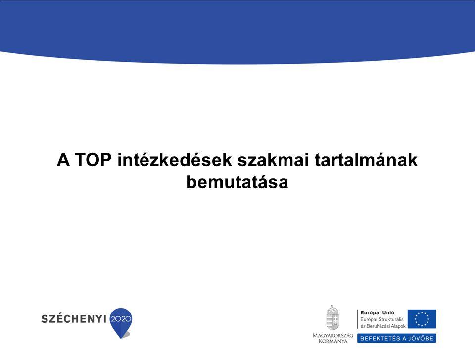 A TOP intézkedések szakmai tartalmának bemutatása