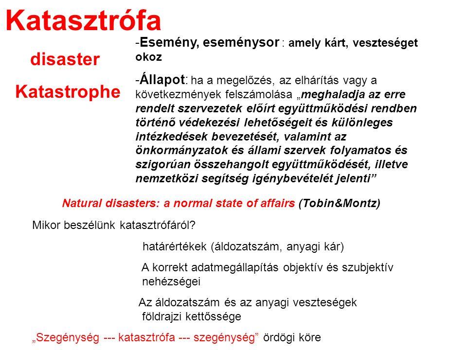 Katasztrófa disaster Katastrophe