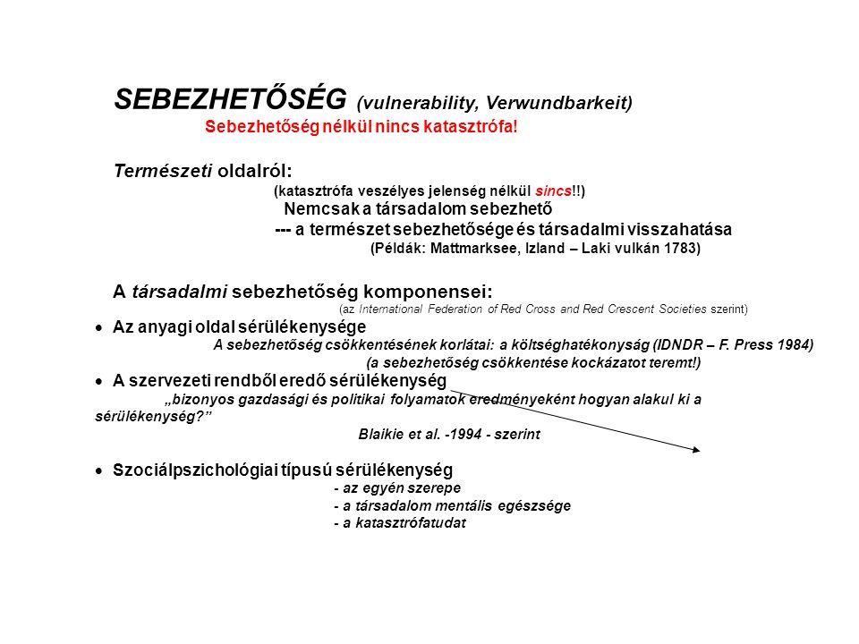 SEBEZHETŐSÉG (vulnerability, Verwundbarkeit)