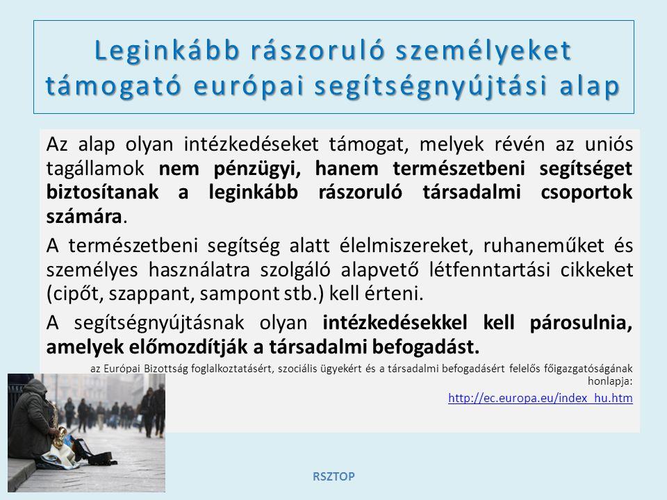 Leginkább rászoruló személyeket támogató európai segítségnyújtási alap