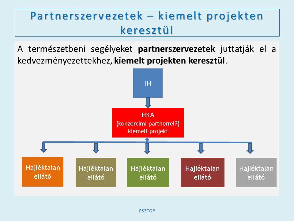 Partnerszervezetek – kiemelt projekten keresztül