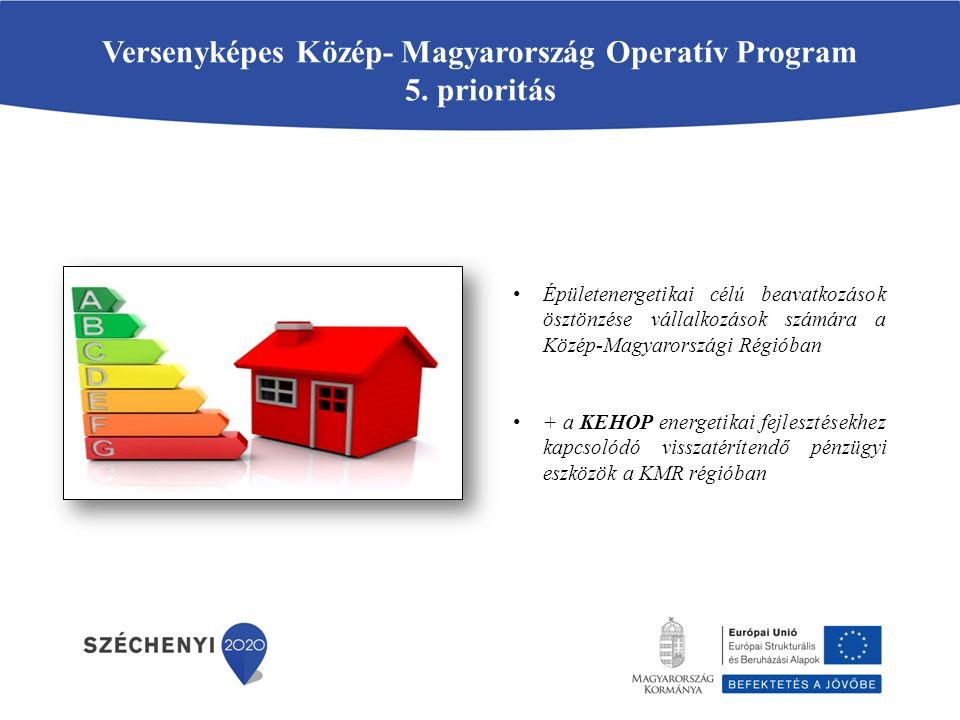 Versenyképes Közép- Magyarország Operatív Program 5. prioritás