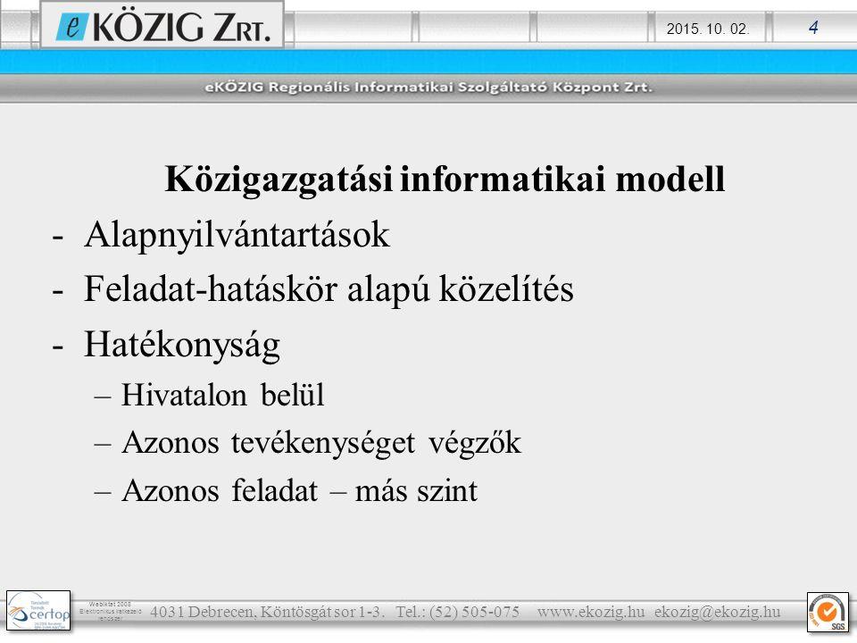 Közigazgatási informatikai modell