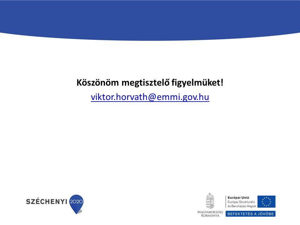 Köszönöm megtisztelő figyelmüket! viktor.horvath@emmi.gov.hu