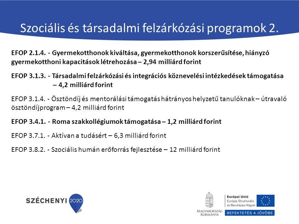Szociális és társadalmi felzárkózási programok 2.