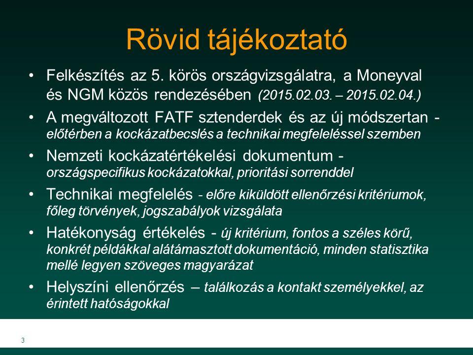 Rövid tájékoztató Felkészítés az 5. körös országvizsgálatra, a Moneyval és NGM közös rendezésében (2015.02.03. – 2015.02.04.)