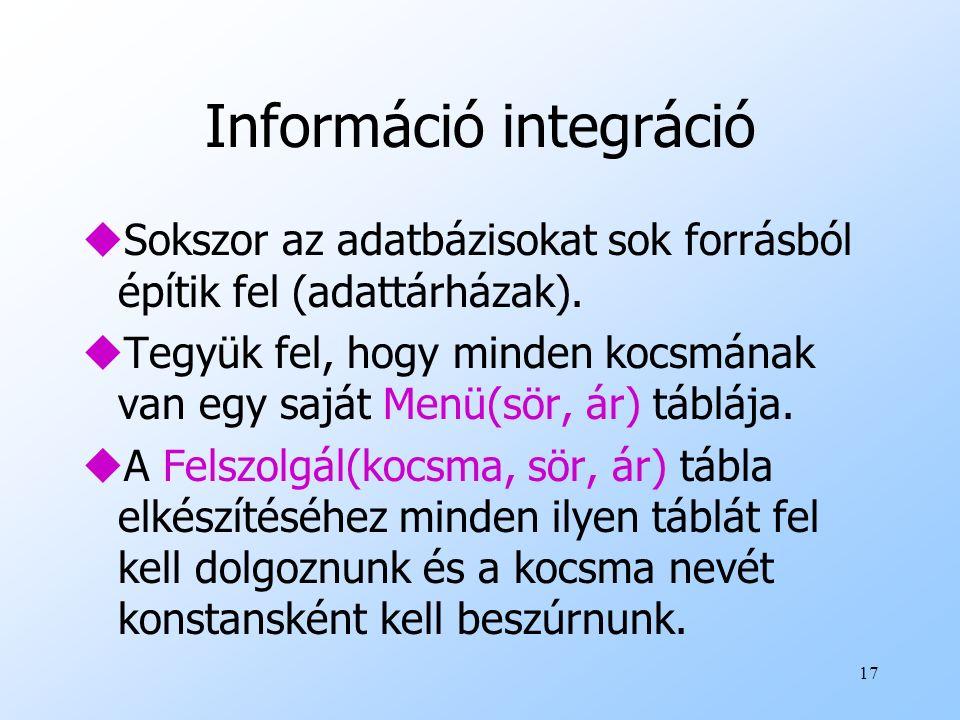 Információ integráció