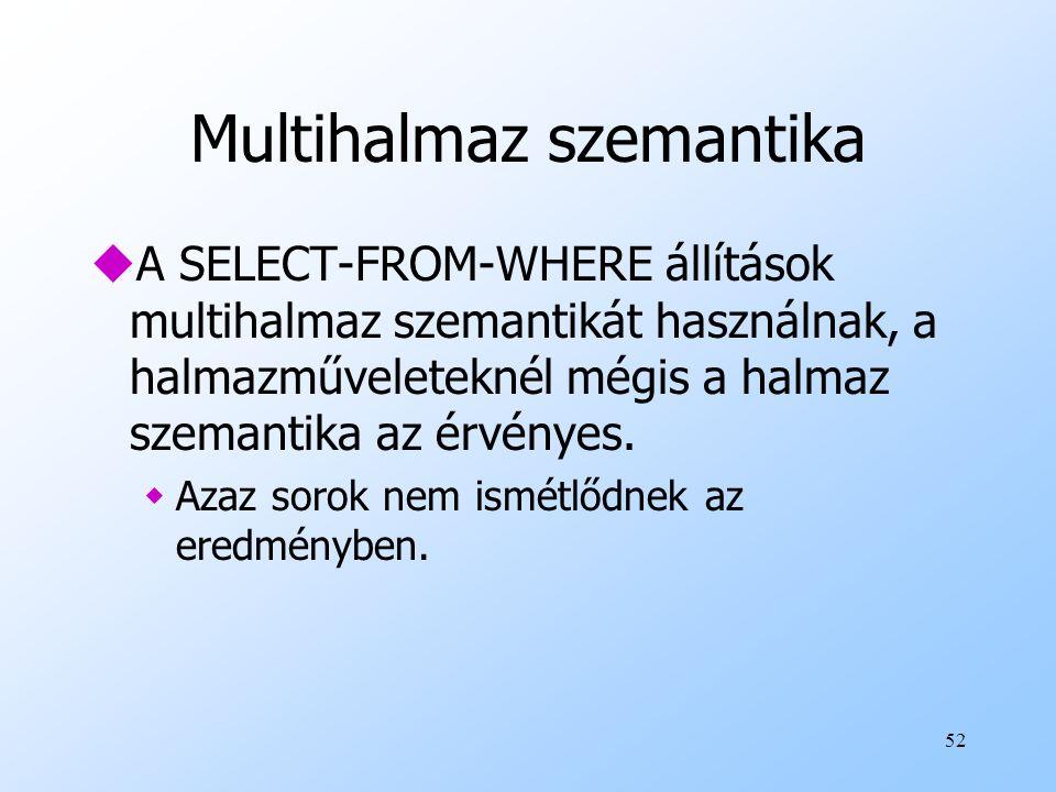 Multihalmaz szemantika
