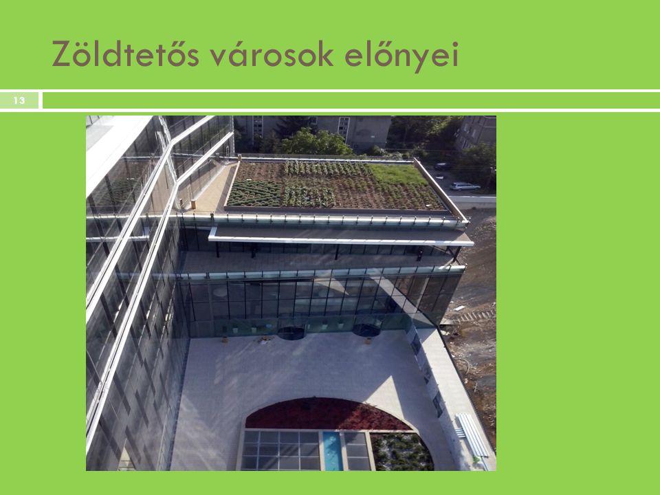 Zöldtetős városok előnyei