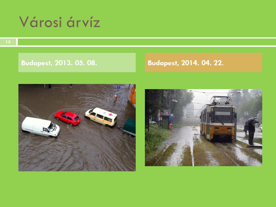 Városi árvíz Budapest, 2013. 05. 08. Budapest, 2014. 04. 22.