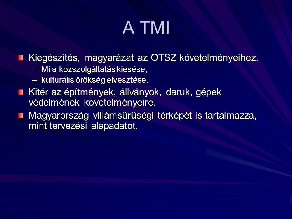 A TMI Kiegészítés, magyarázat az OTSZ követelményeihez.