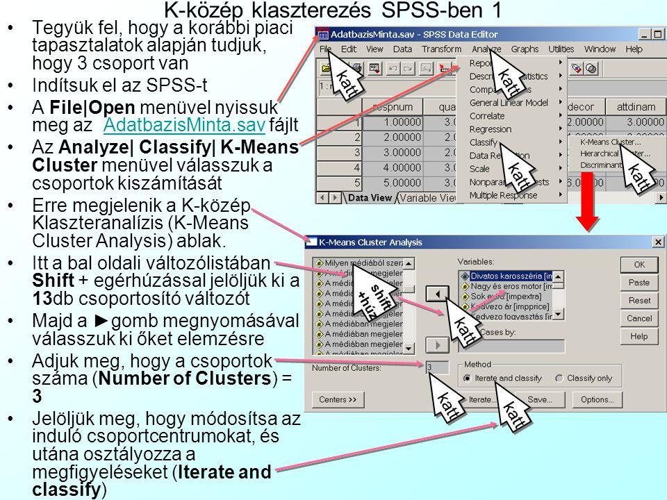 K-közép klaszterezés SPSS-ben 1