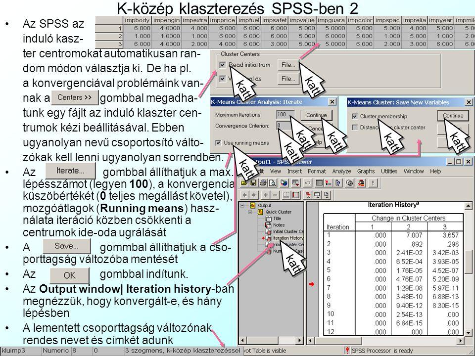 K-közép klaszterezés SPSS-ben 2