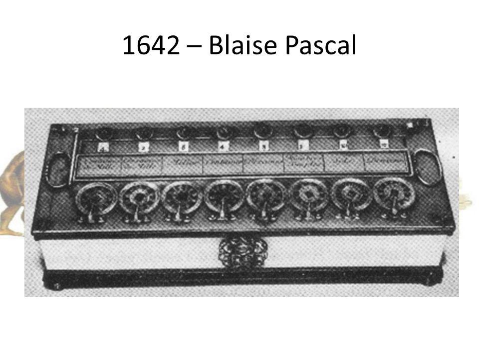 1642 – Blaise Pascal